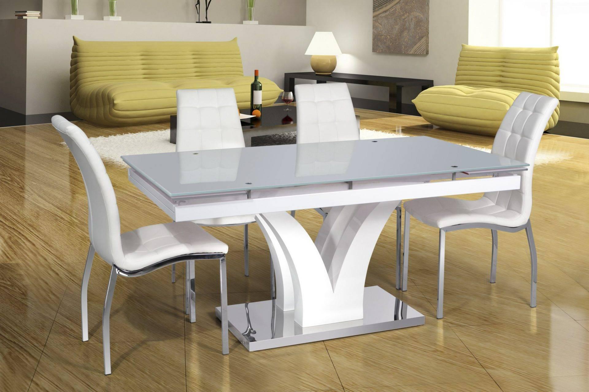 Раздвижной обеденный стол dt-43 esf белый купить по недорого.