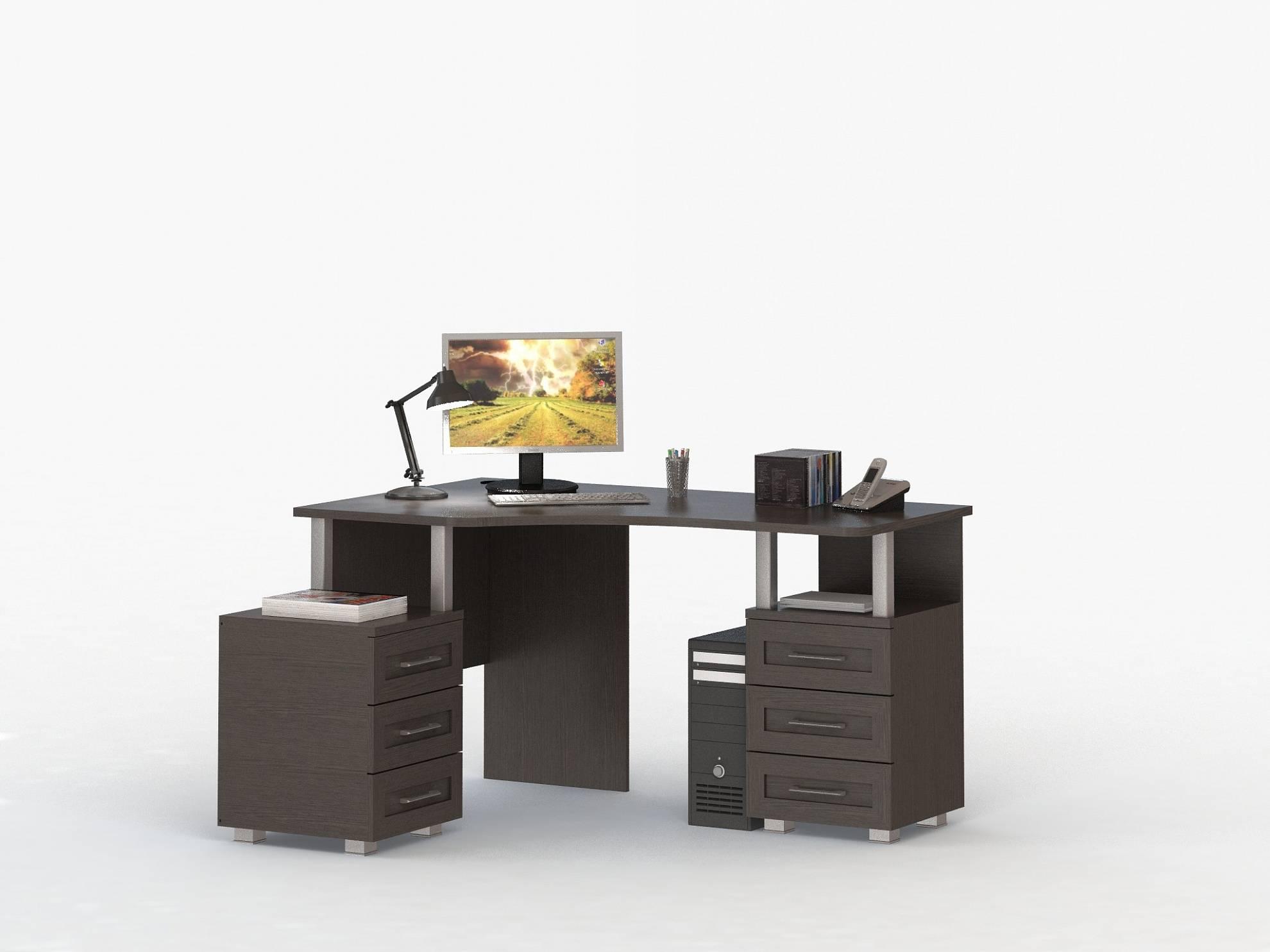 Стол компьютерный угловой соло-025, модульная мебель от фабр.